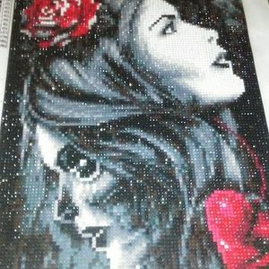 Diamond art on canvas